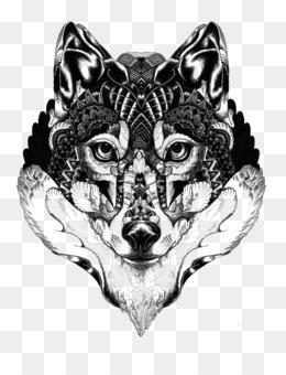 Realista Fundo Png Imagem Png Lobo Cinzento Mandala Tatuagem