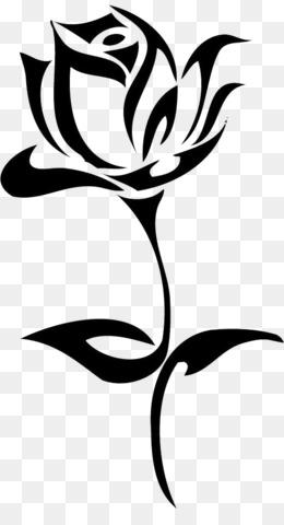 Planta De Haste Fundo Png Imagem Png Tatuagem De Rosa Negra