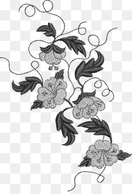 Bordado De Flores Fundo Png Imagem Png Design Floral M 02csf